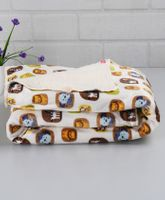 Babyhug Baby Blanket Animals Print - White And Multicolor