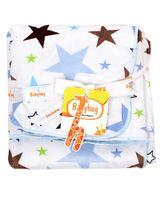 Babyhug Baby Blanket Star Print - White