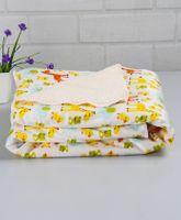 Babyhug Baby Blanket Animal and Bird Print - White & Multicolor