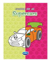 Color Me As Super Cars Book - English