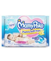 MamyPoko Pure & Soft Baby Wipes With Fragrance - 50 Pieces