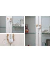 Blossoms Flexible Cabinet Latch - White