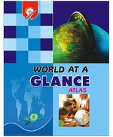 World At A Glance Atlas Book - English