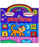 Rainbow Stickers Colouring Playtime