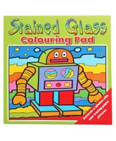 Stained Glass Colouring Pad Green