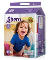 Libero Open Diapers Large- 54 Pieces