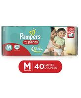 Pampers Pant Style Diapers Light And Dry Medium - 40 Pieces