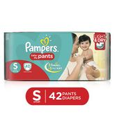 Pampers Pant Style Diapers Light And Dry Small - 42 Pieces