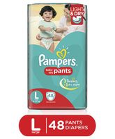 Pampers Pant Style Diapers Light And Dry Large - 48 Pieces