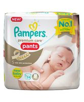 Pampers Premium Care Pant Style Diapers Newborn Extra Small - 24 Pieces