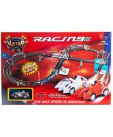 Happykids Electronic Racing Car and Track Set - Multicolor