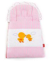 Sapphire Carry Nest Cum Sleeping Bag With Inbuilt Pillow Duckling Design - Pink