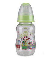 Mee Mee Plastic Premium Feeding Bottle All Aboard Print Green - 150 ml