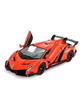 Flyers Bay Remote Control Lamborghini Veneno Style Full Function Rechargeable Car With Door Opening Feature - Orange