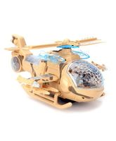 Battery Operated 2 In 1 Helicopter With Light And Music - Fawn