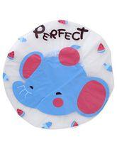 Adore Baby Shower Cap Cartoon Perfect Print - White & Blue