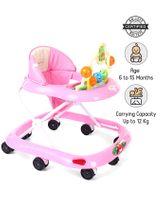 Babyhug Jolly Stroll Baby Walker - Pink