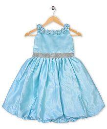 Winakki Kids Sequence & Rose Party Dress - Blue
