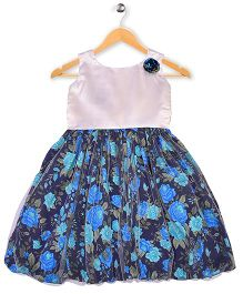 Winakki Kids Floral Print Dress - Blue