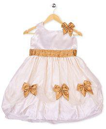 Winakki Kids Sleeveless Girls Dress - Cream