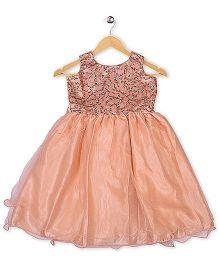Winakki Kids Sleeveless Trendy Party Dress - Peach