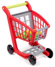 Ecoiffier Supermarket Trolley Red Grey - 13 Pieces