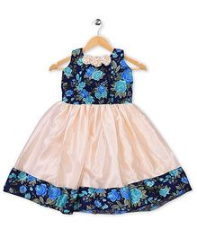 Winakki Kids Floral Print Party Dress - Blue