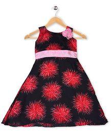 Winakki Kids Party Dress With Flower - Black