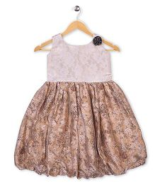 Winakki Kids Trendy Party Dress - Beige