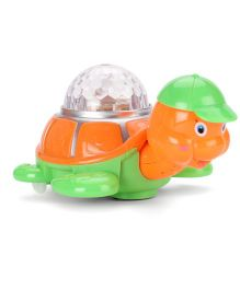 Smiles Creation Colorful Musical Turtle - Orange And Green