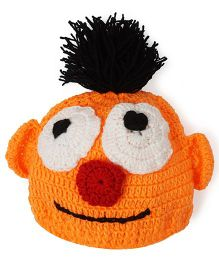 Mayra Knits Pom Pom Cap - Orange