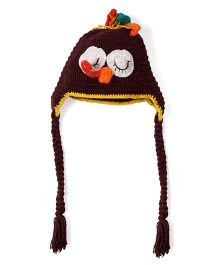 Mayra Knits Owl Cap - Brown