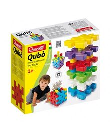 Quercetti Qubo First Blocks Multi Color - 19 Pieces