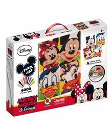 Quercetti Mickey Mouse and Friends Pixel Art - Multi Color