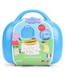 Smoby Peppa Pig Mallette D'Artiste Bag - Blue And Yellow