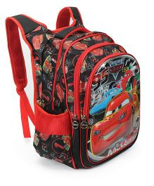 Disney Cars Kids School Bag Red And Back - 17 inches