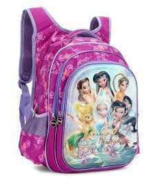 Disney Fairies Kids School Bag Purple - 17 Inches