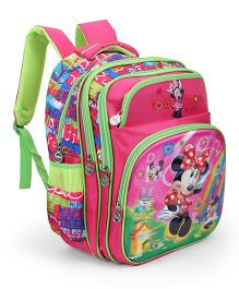 Disney Minnie Kids School Bag Pink And Green - 15 inches