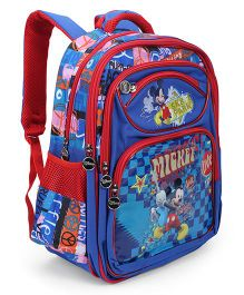 Disney Mickey Rocks School Bag Blue And Red - 15 inches