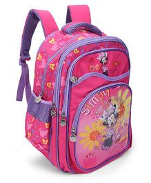 Disney Minnie Kids School Bag Pink And Purple - 15 inches