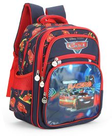 Disney Cars Kids School Bag Blue And Red - 15 Inches