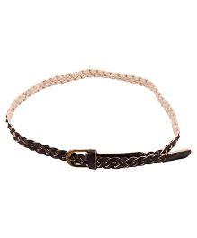 NeedyBee Adjustable Braided Belt For Kids - Brown