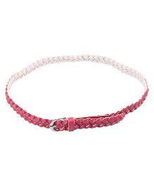 NeedyBee Adjustable Braided Belt For Kids - Pink