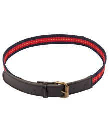 NeedyBee Canvas Belt With Leather Tip For Kids - Red