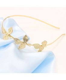 Flaunt Chic Three Golden Leaf - Gold