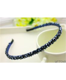 Flaunt Chic Crystal Stone Hair Band - Blue