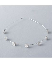 Flaunt Chic Diamond Studded Queen Hair Band - Silver