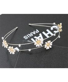 Flaunt Chic Sunflower Hair Band - Golden