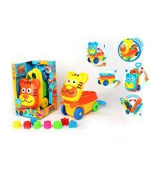 Kreative Box Cutie Luggage Car - Yellow & Orange