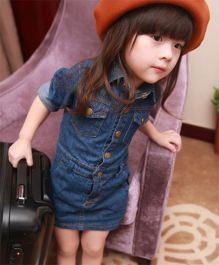Cherubbaby Denim Dress - Blue